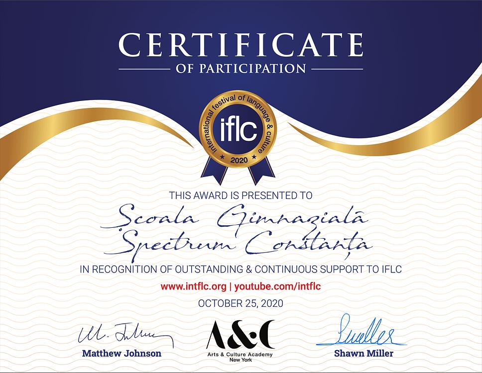 IFLC certificate